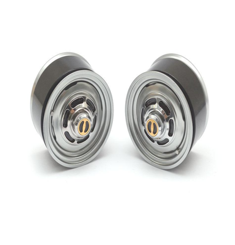 [BRW780907FGM] 1.55 Yota LC Classic Front Beadlock Wheels (2) with 3mm Wideners (2) Gun Metal