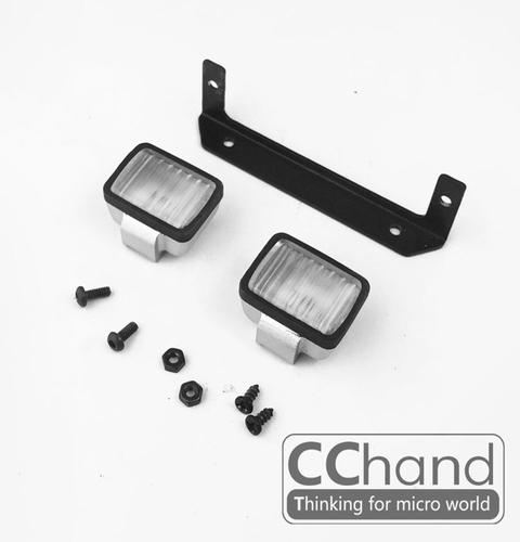 CChand RC4WD 1/10 LC70 ARB-DELUXE 프론트 메탈 범퍼용 사각 라이트 세트