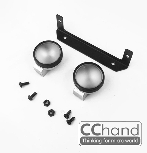 CChand RC4WD 1/10 LC70 ARB-DELUXE 프론트 메탈 범퍼용 원형 라이트 세트