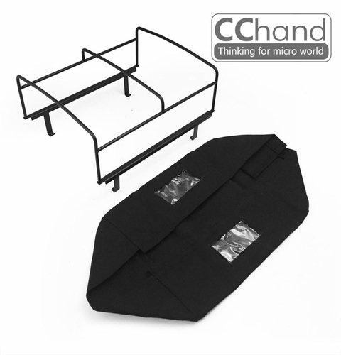 CChand RC4WD 1/10 LC70 Rear bed cage soft TOP(BLACK) LC70 리어 탑케이지 천막형