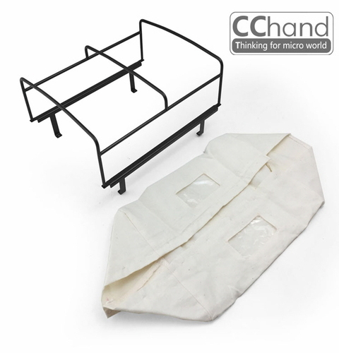 CChand RC4WD 1/10 LC70 Rear bed cage soft TOP(WHITE) LC70 리어 탑케이지 천막형