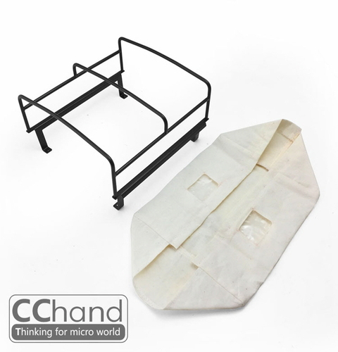 CChand 1/10 RC4WD TF2 LWB  Rear bed cage soft TOP(WHITE) RC4WD TF2 LWB 리어 탑케이지 천막형