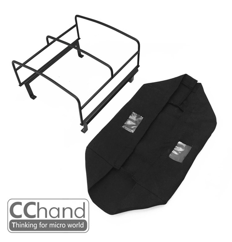 CChand 1/10 RC4WD TF2 LWB  Rear bed cage soft TOP(BLACK) RC4WD TF2 LWB 리어 탑케이지 천막형