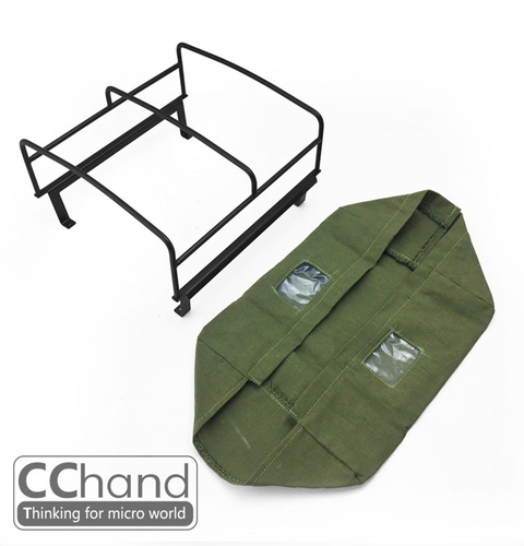 CChand 1/10 RC4WD TF2 LWB  Rear bed cage soft TOP(GREEN) RC4WD TF2 LWB 리어 탑케이지 천막형