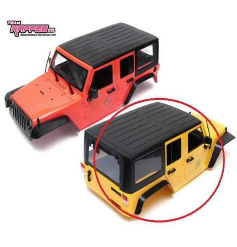 [TRC/302281Y]  5 Door Rubicon Hard Body for 1/10 Crawler 313mm Yellow