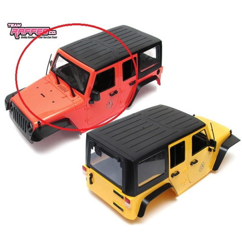 [TRC/302281R]  5 Door Rubicon Hard Body for 1/10 Crawler 313mm Red