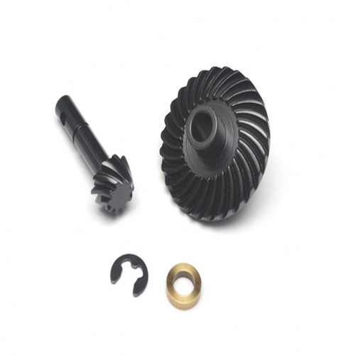 [BRQ90332BK] Heavy Duty Bevel Helical Gear Set 27T/10T for Scale PHAT Axle D90/D110 Black