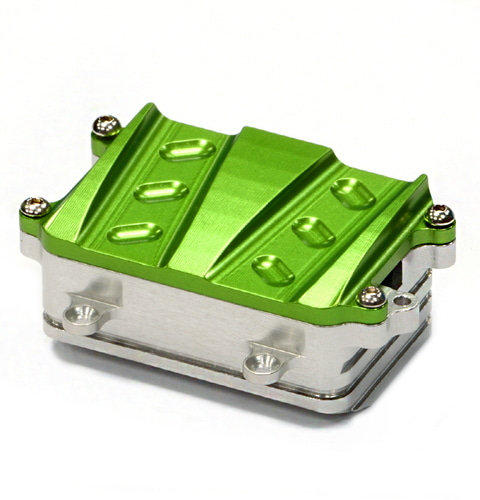 [C24729GREEN] Billet Machined Alloy Receiver / Radio Box for Axial 1/10 SCX-10