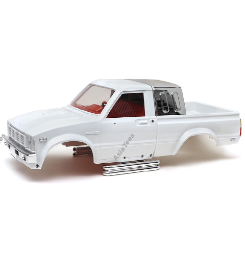 Team Raffee Co. 1/10 4X4 Pick-Up Truck Hard Body w/ Full Interior 287mm Hilux White