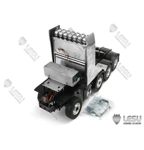 1/14 truck Volvo VOLVO Regal 8X8 full drive differential lock axle heavy drag chassis model LESU [타미야 볼보트레일러 적용가능]