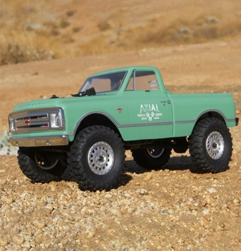AXIAL 1/24 SCX24 1967 Chevrolet C10 4WD Truck Brushed RTR, Green