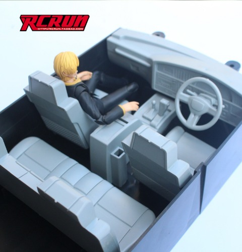 RCRUN 1:10 climbing model car Land Cruiser LC80 interior with linkage steering wheel SCX10 / LC80 이너바디 조향 핸들까지 가능한 제품