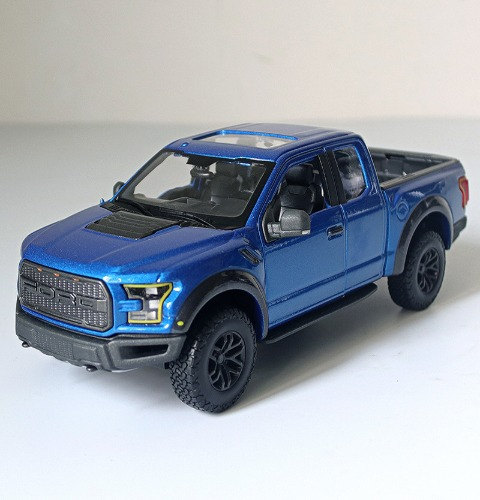 [블루색상] Meritor Figure 1/24 Full Metal Pickup Truck Original Ford Raptor F150 Car Model Car Shell / Meritor Figure 1/24 풀 메탈 픽업 트럭 오리지널 Ford Raptor F150 자동차 모델 자동차 쉘
