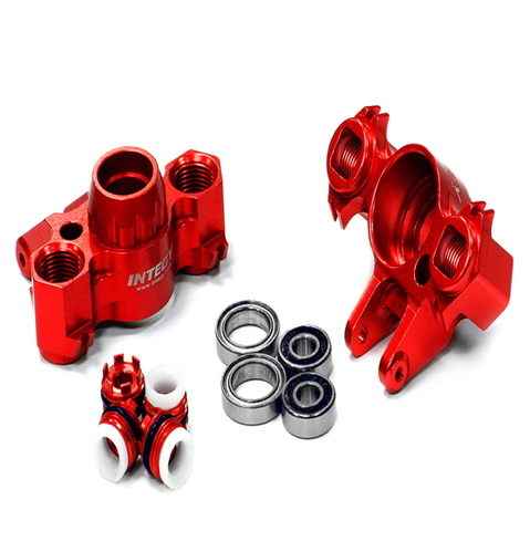 [T4073RED] Billet Machined Steering Block (2) for Traxxas 1/10 Revo 3.3, E-Revo, Summit