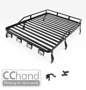 CChand-RC4WD G2 & 랜드로버 디펜더 1/10 D90 금속 수하물 랙[금속 선반 스포트라이트포함/ LED미포함]