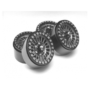 [BRW780902GM] Venomous KRAIT™ 1.9 Aluminum Beadlock Wheels with +8mm Wideners (4) Gun Metal