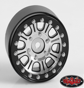 "[Z-W0203] Raceline Monster 1.7"" Beadlock Wheels (Silver/Black)"