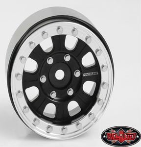 "[Z-W0201] Raceline Monster 1.7"" Beadlock Wheels (Black/Silver)"