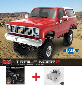 [Z-K0054] Trail Finder 2 Truck Kit + [Z-B0092] Chevrolet Blazer Hard Body Complete Set [키트제품]