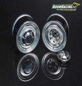 [BRW780907RGM] 1.55 Yota LC Classic Rear Beadlock Wheels (2) with 3mm Wideners (2) Gun Metal