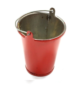 [C25562RED] Realistic 1/10 Scale Large Size Metal Bucket for Off-Road Crawling C25562RED