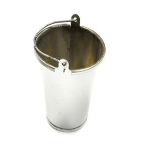 [C25562SILVER] Realistic 1/10 Scale Large Size Metal Bucket for Off-Road Crawling C25562SILVER