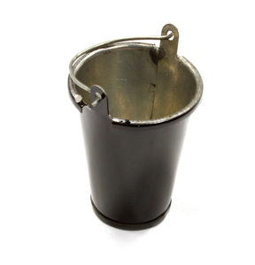 [C25563BLACK] Realistic 1/10 Scale Small Size Metal Bucket for Off-Road Crawling C25563BLACK