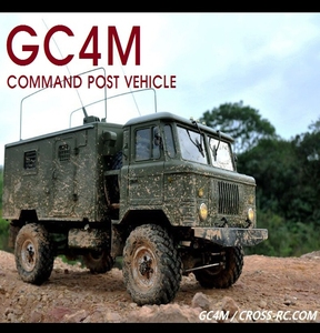 [90100039] 1/10 CROSS-RC COMMAND POST VEHICLE 지휘차량 GC4M 4X4 트럭