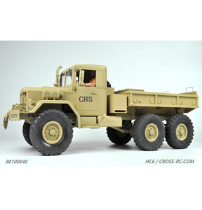 [90100040] 1/10 CROSS-RC HC6 6X6 군용트럭