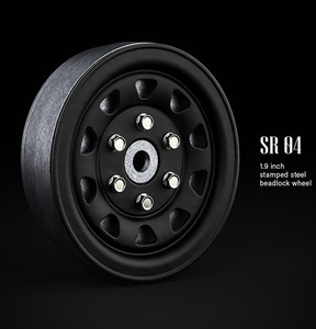 SR04 1.9inch beadlock wheels (Matt black) (2)