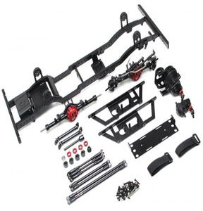 [BRQ90348] 1/10 D110 Metal Chassis Kit (Without Shocks Wheels Tires) for TRC Raffee D110 Defender Body [도어바디 전용]