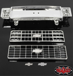 [B0124] RC4WD Chevrolet Blazer Chrome Front Grill w/Optional Inserts