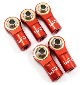 [YA-0550RD] Aluminum M3 Rod Ends (5pcs) Red