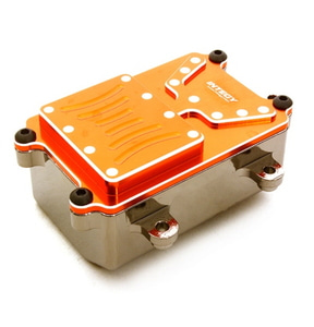 [C26603ORANGE] Realistic Metal Receiver Box for Axial 1/10 SCX-10 Scale Crawler Truck