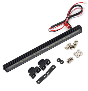 (#YA-0546) 1/10 Aluminum White Super Bright LED Light Bar Black for RC Truck Crawler
