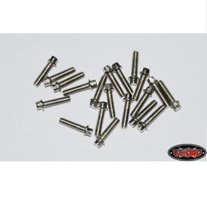 [Z-S0423] RC4WD Miniature Scale Hex Bolts (M2 x 8mm) (Silver)