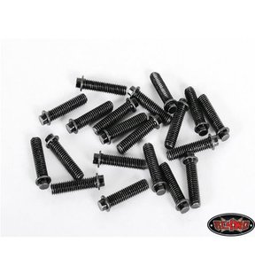 [Z-S0690] RC4WD Miniature Scale Hex Bolts (M3x12mm) (Black)