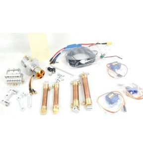 Hydraulics+electronics kit for HUINA 580 with brushless pump [HUINA 580 전용 유압라인 + 전용마운트 풀세트]