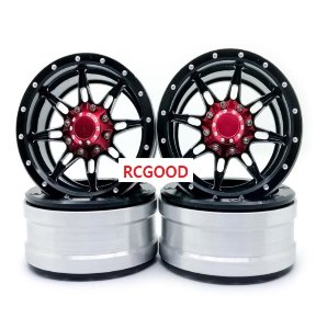 1/10 Spider black 1.9 Wheel -TRX4 SCX10 90046 D90 [Black -Read Cap]