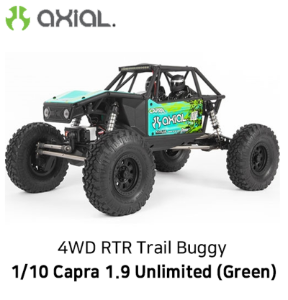 카프라 조립완료 버전) AXIAL 1/10 Capra 1.9 Unlimited 4WD RTR Trail Buggy, Green