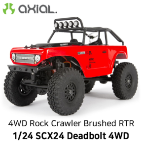 AXIAL 1/24 SCX24 Deadbolt 4WD Rock Crawler Brushed RTR, Red