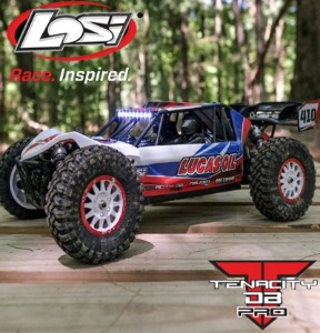 LOSI 1/10 Tenacity DB Pro 4WD Desert Buggy Brushless RTR with Smart, Lucas Oil
