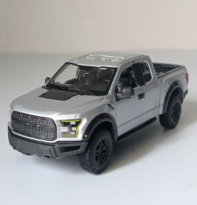 [그레이색상] Meritor Figure 1/24 Full Metal Pickup Truck Original Ford Raptor F150 Car Model Car Shell / Meritor Figure 1/24 풀 메탈 픽업 트럭 오리지널 Ford Raptor F150 자동차 모델 자동차 쉘