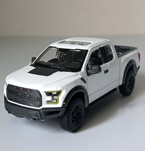 [화이트색상] Meritor Figure 1/24 Full Metal Pickup Truck Original Ford Raptor F150 Car Model Car Shell / Meritor Figure 1/24 풀 메탈 픽업 트럭 오리지널 Ford Raptor F150 자동차 모델 자동차 쉘