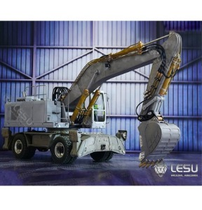 1/14 Construction Machinery Model RD-A0006 Wheeled Walking Hydraulic Excavator All Metal CNC Manufacturing LESU / 유압 바퀴 굴삭기