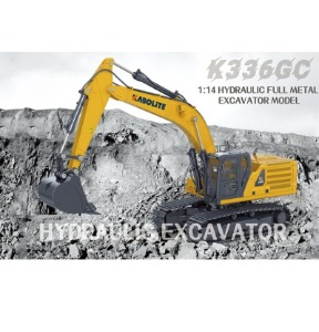 HUINA K336GC 336GC KABOLITE K336GC 1/14 23 Channel Full metal RC hydraulic die cast excavator model -풀메탈 유압굴삭기 후이나
