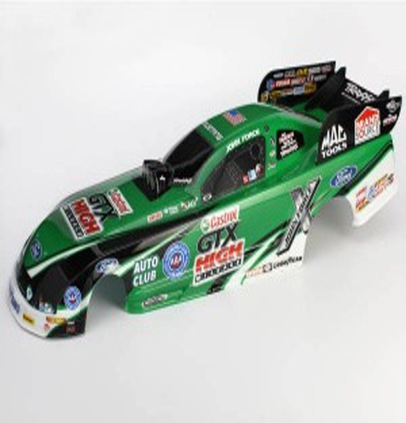 AX6912 Body, Ford Mustang, John Force (painted, decals applied)