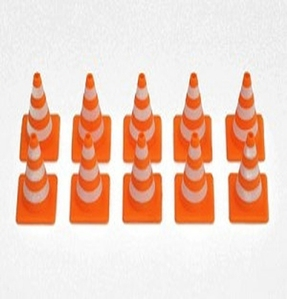[Z-S0615]1/10 Scale Orange Rubber Traffic Cone (Glow in Dark)