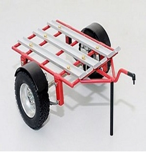 [Z-H0001]1/10 Dual Rails Dirt Bike ATV Trailer (Red Edition)