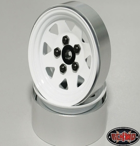 [Z-W0127]5 Lug Wagon 1.9 Steel Stamped Beadlock Wheels (White)[한대분 4개포함]